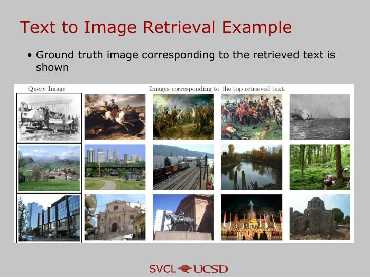 Text to Image Retrieval Example