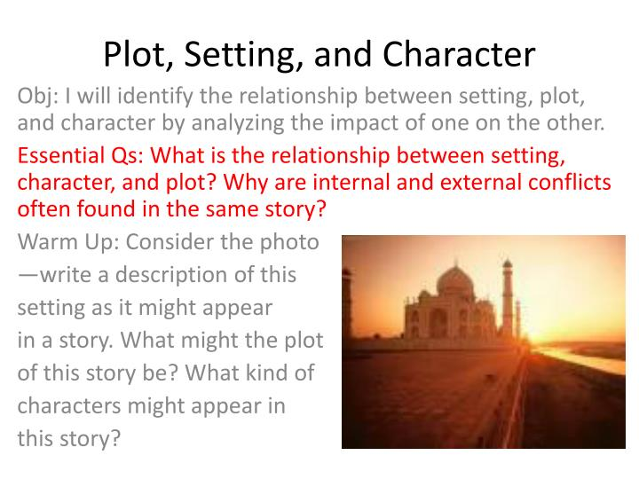 an analysis of the use of plot setting and character in short stories