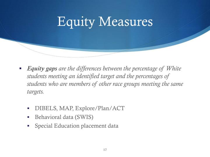 Equity Measures