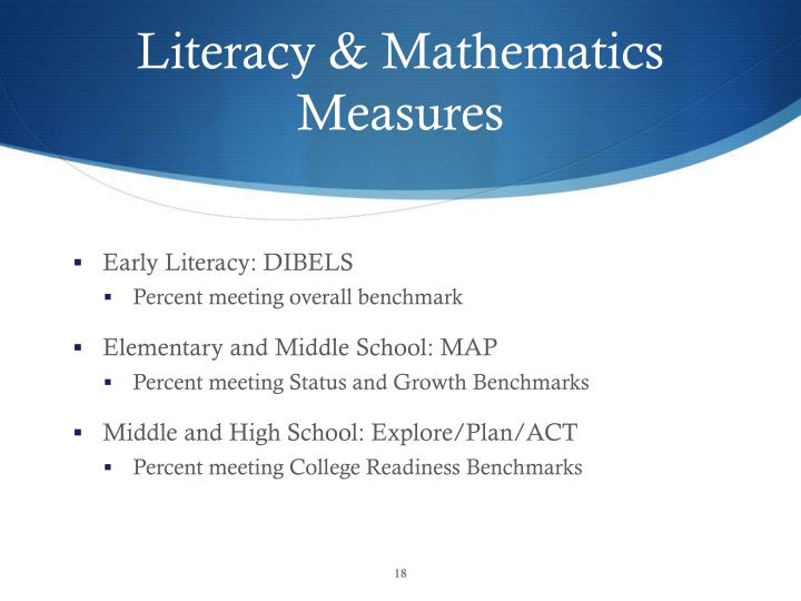 Literacy & Mathematics Measures