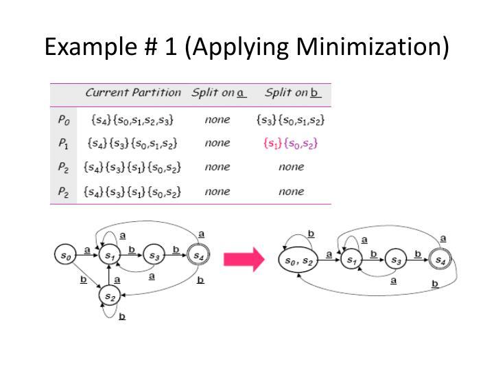 Example # 1 (Applying Minimization)