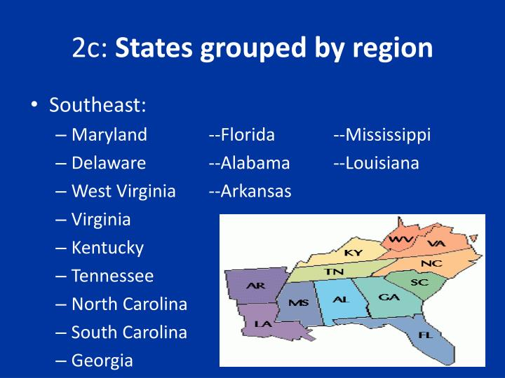 2c states grouped by region1