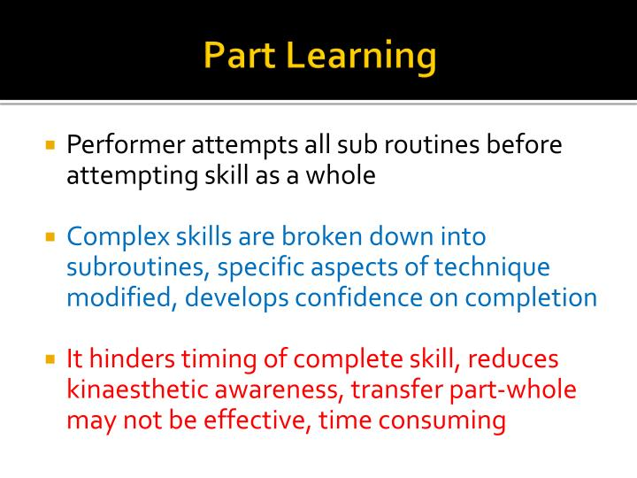 Part Learning