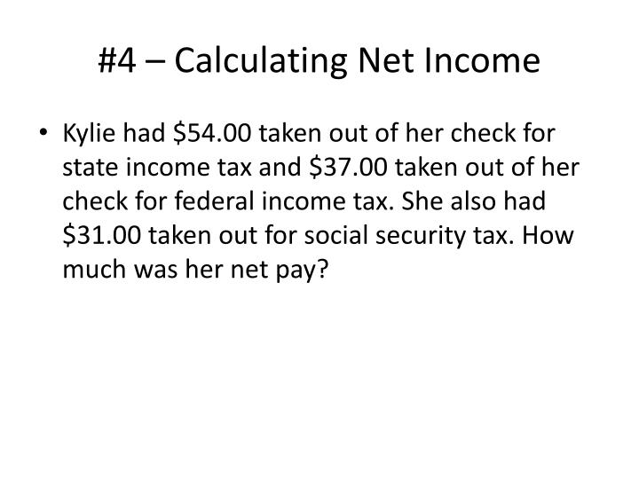 #4 – Calculating Net Income