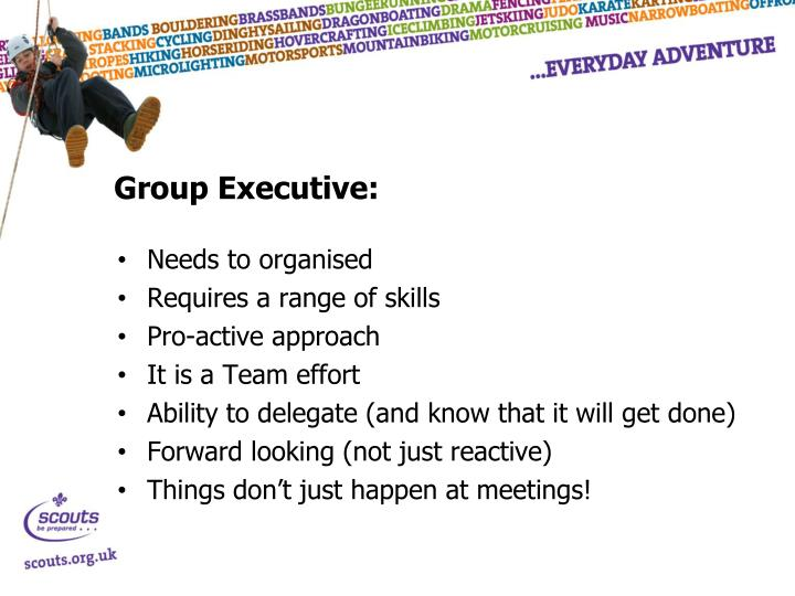 Group Executive: