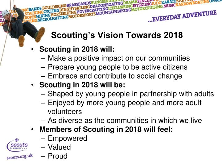 Scouting's Vision Towards 2018