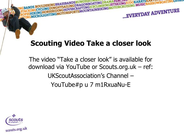 Scouting Video Take a closer look
