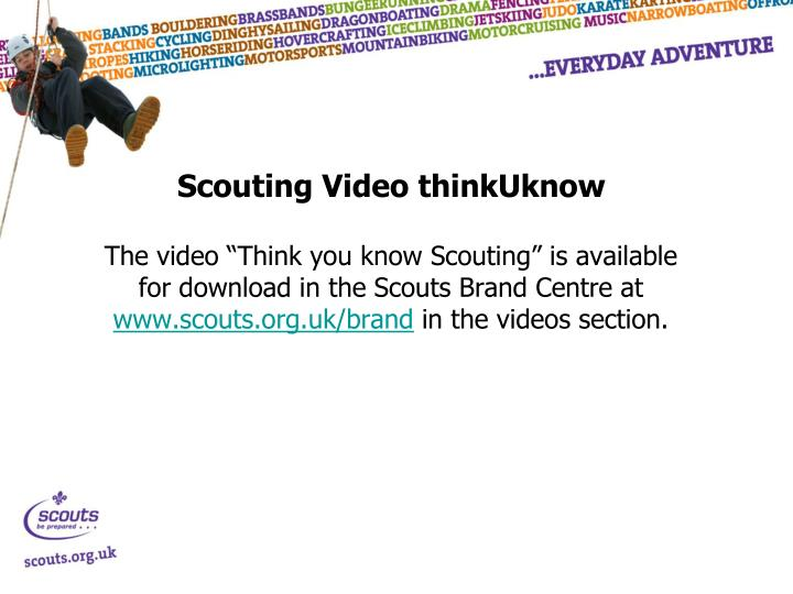 Scouting Video thinkUknow