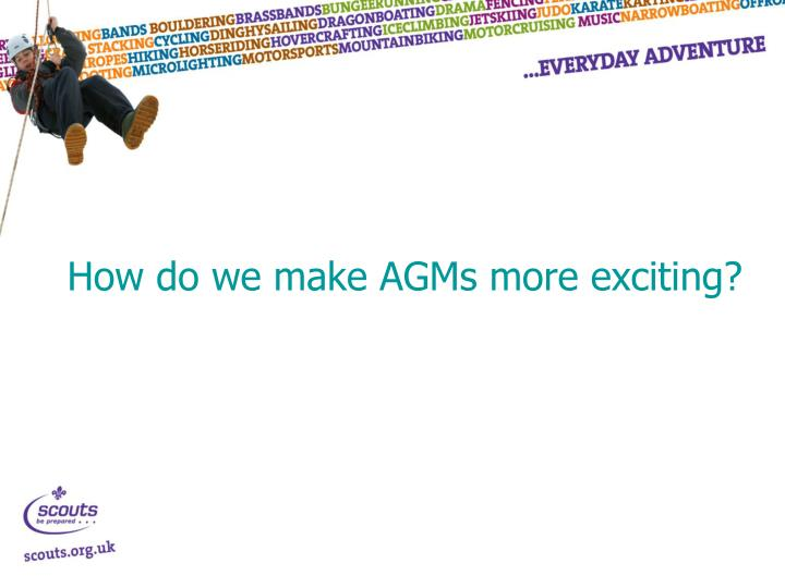 How do we make AGMs more exciting?