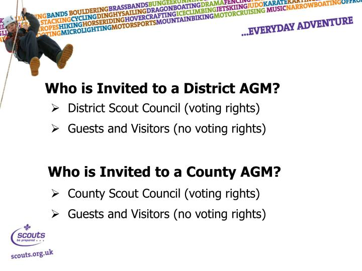 Who is Invited to a District AGM?