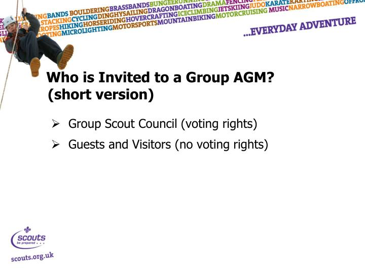Who is Invited to a Group AGM?
