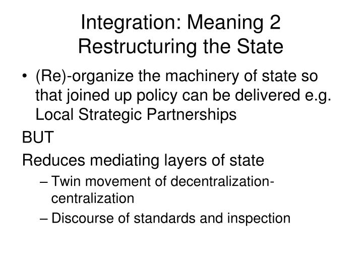 Integration: Meaning 2