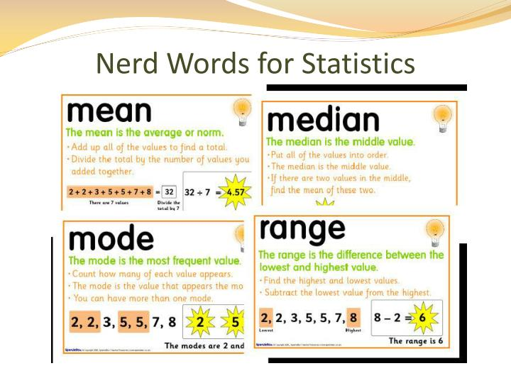 Nerd Words for Statistics