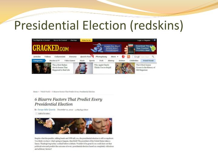 Presidential Election (redskins)