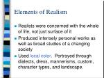 elements of realism