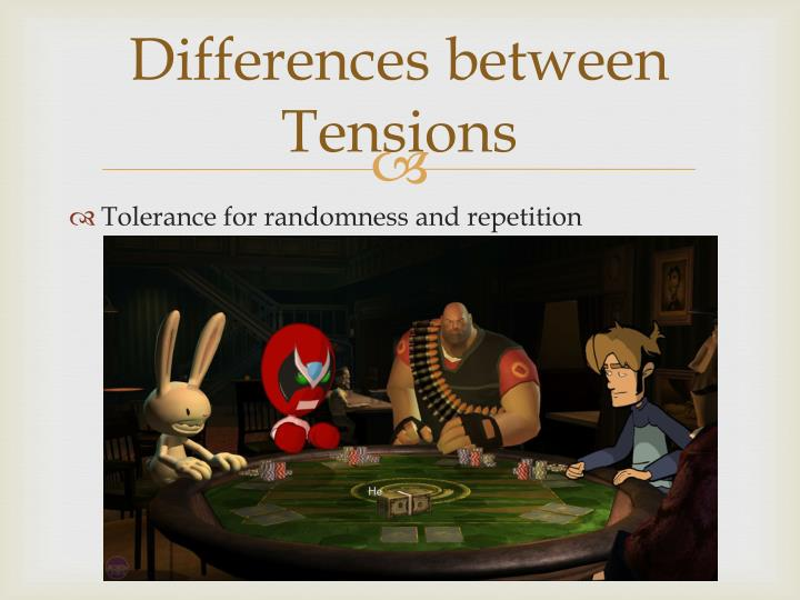 Differences between Tensions