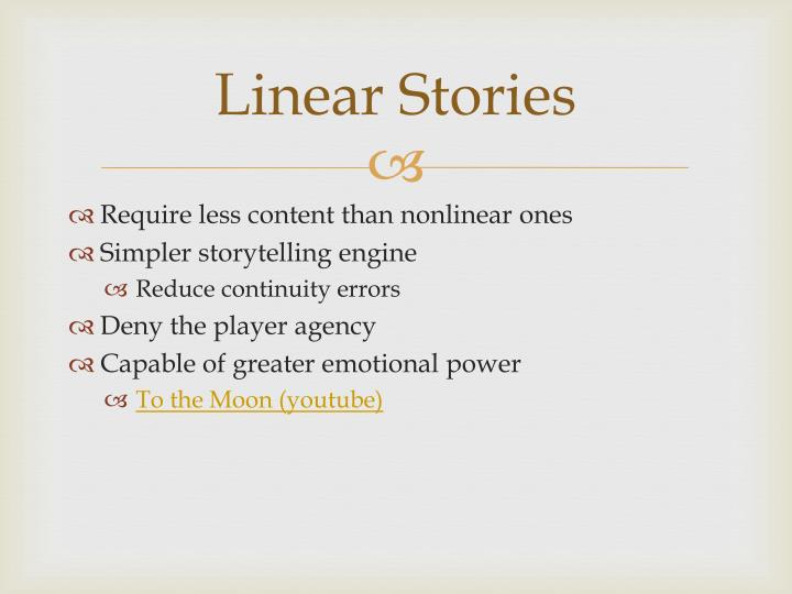 Linear Stories