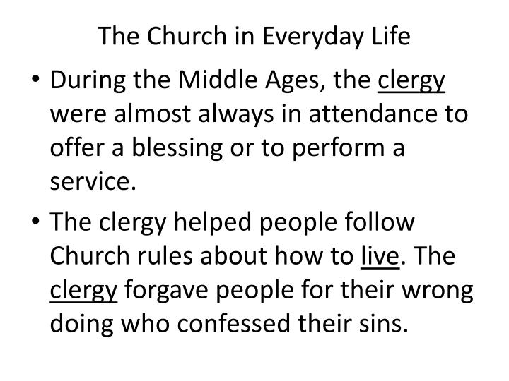 The Church in Everyday Life
