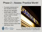 phase 2 assess practice month