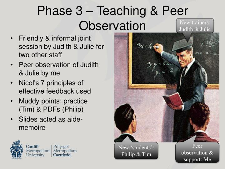 Phase 3 – Teaching & Peer Observation