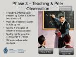 phase 3 teaching peer observation