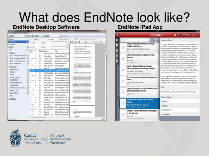 What does endnote look like