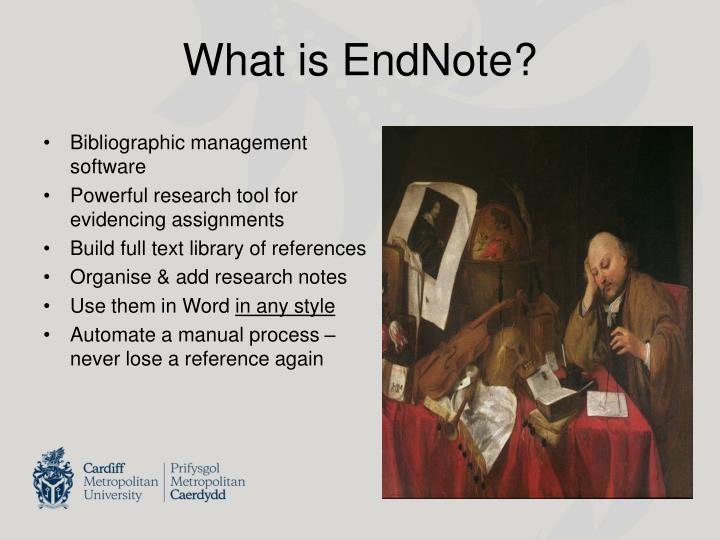 What is endnote
