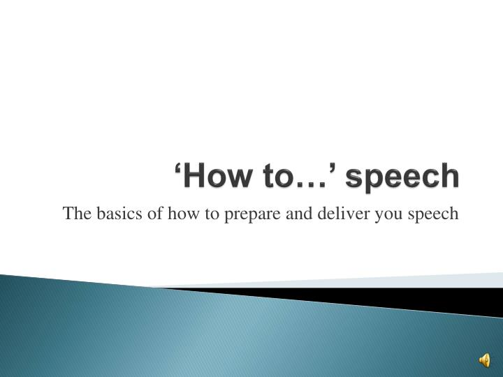 How to speech