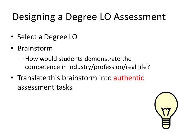 Designing a Degree LO Assessment