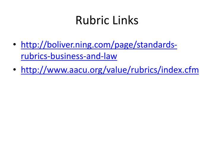 Rubric Links