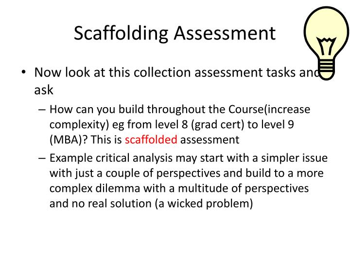 Scaffolding Assessment