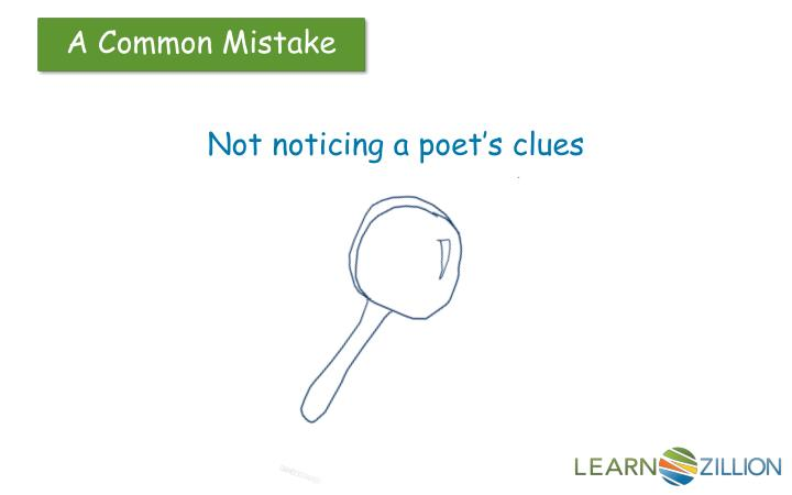 Not noticing a poet's clues