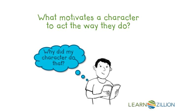 What motivates a character to act the way they do?