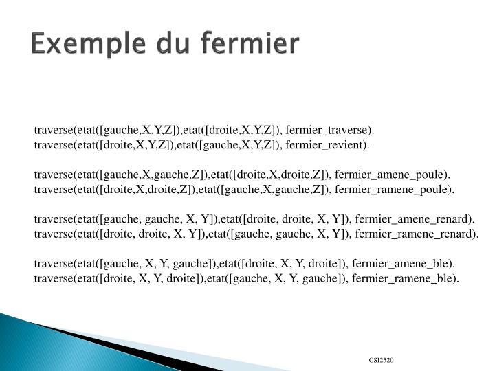 Exemple du fermier