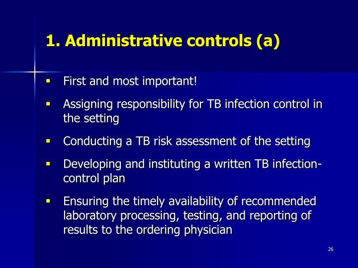 1. Administrative controls (a)