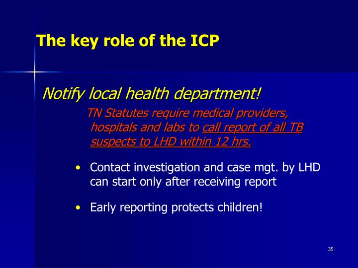 The key role of the ICP
