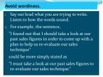 avoid wordiness