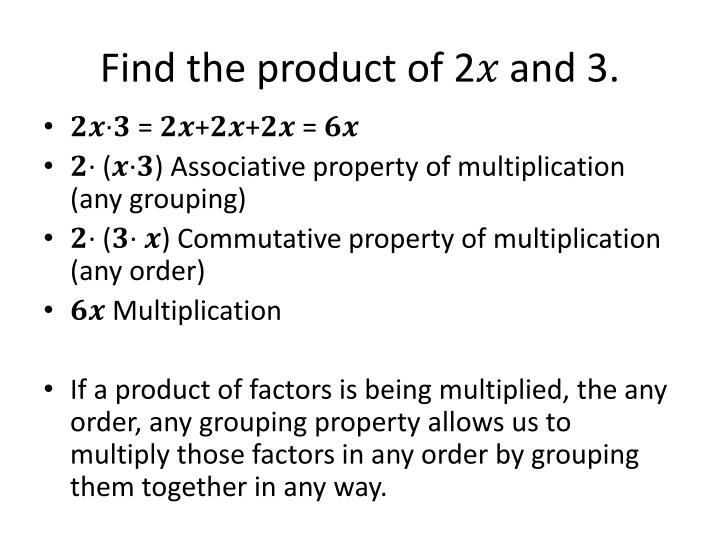 Find the product of 2� and 3.