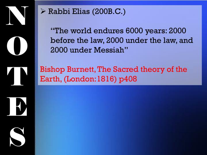 Rabbi Elias (200B.C.)