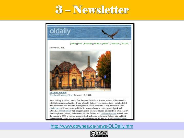 3 – Newsletter