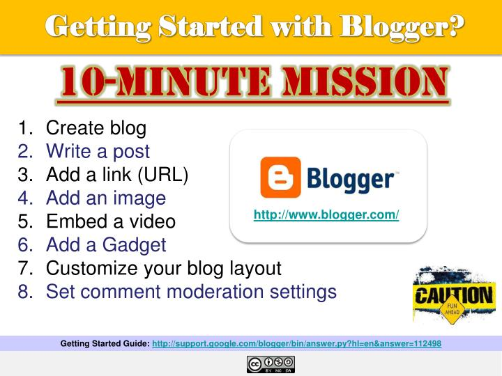 Getting Started with Blogger?