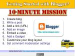getting started with blogger