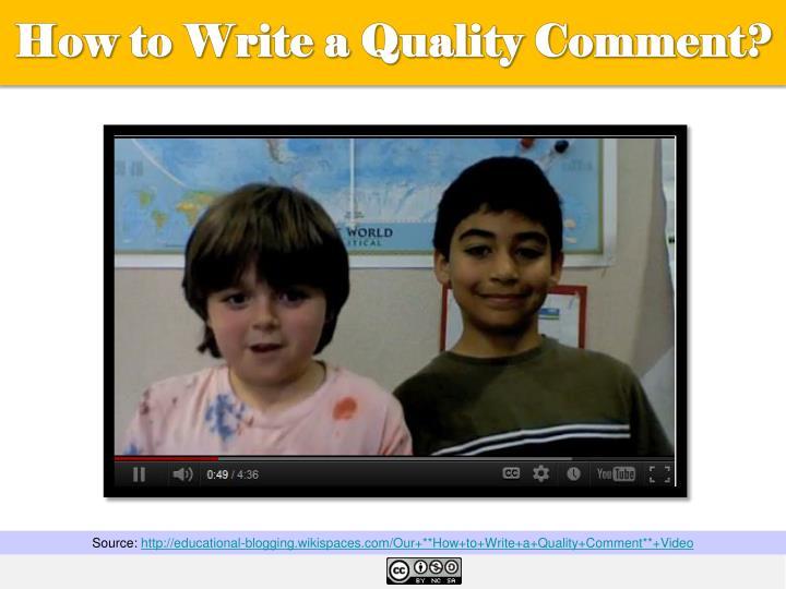 How to Write a Quality