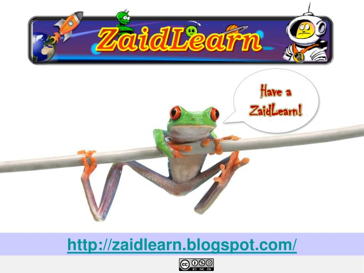 Have a ZaidLearn!
