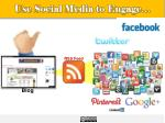use social media to engage