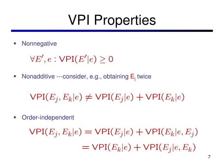 VPI Properties