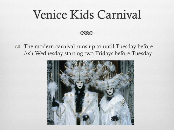 Venice Kids Carnival