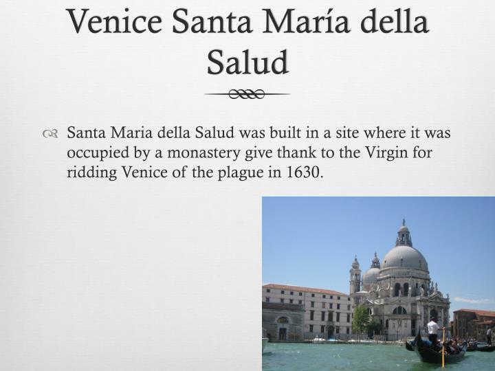 Venice Santa María della Salud