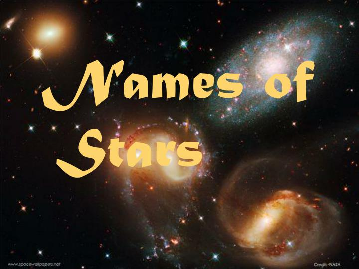 Names of Stars