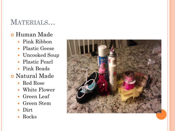Materials…